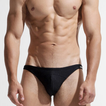 Men Holiday U Convex Quickly Dry Bikini Solid Color Swimwear