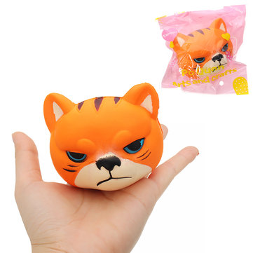 Tiger Squishy 8*7*6.5cm Slow Rising With Packaging Collection Gift Soft Toy