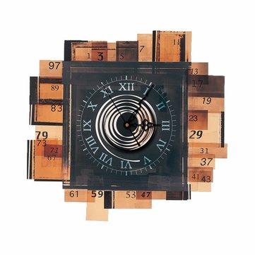 Etichetta di pag 3e decalcomanie di parete di orologio etichetta di parete di blocchi di legno regalo di arredamento di parete familiare