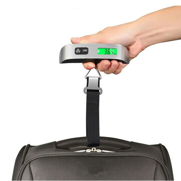 Portable Digital Luggage Scale LCD Display Travel Hook Hanging Weight 110lb 50kg
