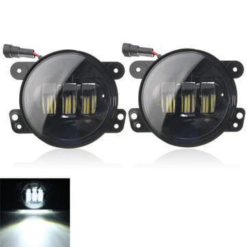 2pcs 4inch 12 LED Auxiliary Spot Passing Lamp Fog Headlights For Harley
