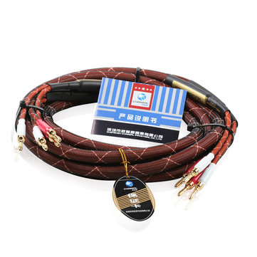 Choseal LB5110 Gold Plated Banana Plug Speaker Professional Hi-Fi Power Amplifier Cable