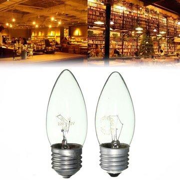 E27 25W/40W Warm White Vintage Edison Incandescent Candle Light Lamp Bulb AC220V