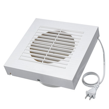 ชุดพัดลมดูดอากาศขนาดเล็ก 220V พัดลมดูดอากาศสำหรับห้องครัวแบบผนัง ห้องอาบน้ำ สุขา