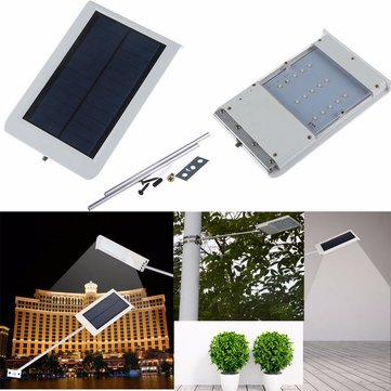 15LED Ultra Thin Solar Light Sensor Wall Street Outdoor Waterproof Garden Lamp