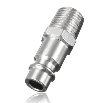 1/4 BSP Male Thread Hose Adapter Plug Compressor Quick Coupling Connector 10x38mm