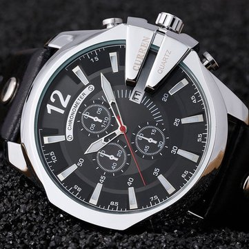 CURREN 8176 Luxury Fashion Decorative Small Dials Men Watch