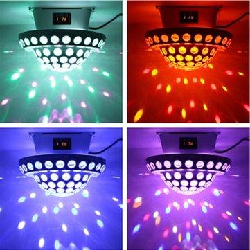 20W RGB DMX Voice Control US Plug LED Stage Light Rotating Crystal Ball Laser Projector for Club DJ