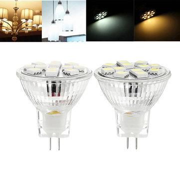 MR11 3W SMD5050 12LEDs Warm White Pure White Light Bulb 12V