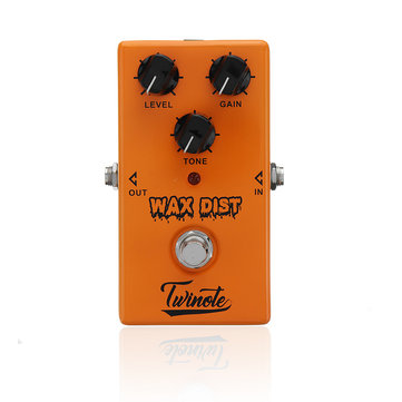 Twinote WAX DIST Vintage Distortion Effects Pedal for Musical Instruments Guitar Accessories