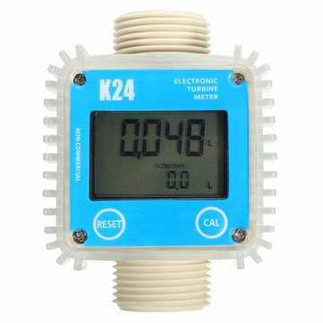 K24 1inch Digital Turbine Diesel Fuel Flow Meter Guage Counter for Chemicals Water
