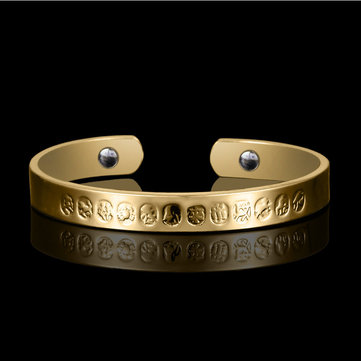 Twelve Zodiac 18K Gold Plated Anti-fatigue Health Magnetic Bracelet for Women