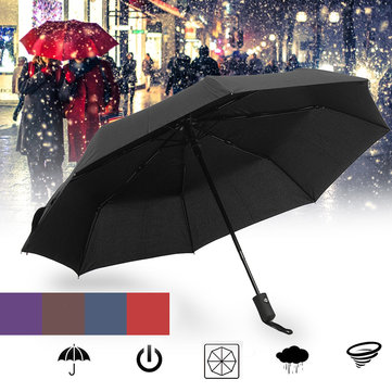 1-2 People Automatic Umbrella 8 Ribs Strong Windproof Umbrella Folding Portable Sunshade