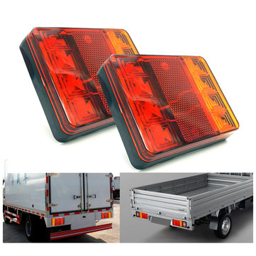CNSUNNYLIGHT 12V LED Car Rear Tail Lights Brake Turn Signal Lamp Waterproof for Trunk Trailer