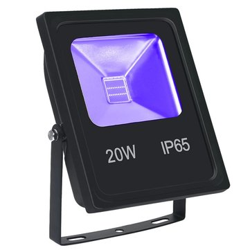20W UV Flood Light with COB LED IP65 Waterproof Black Lights for Outdoor Halloween Neon Glow Party and Stage Lighting