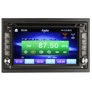 GPS Navigation 1080P HD 2DIN Car Stereo DVD Player Bluetooth iPod MP3 Camera