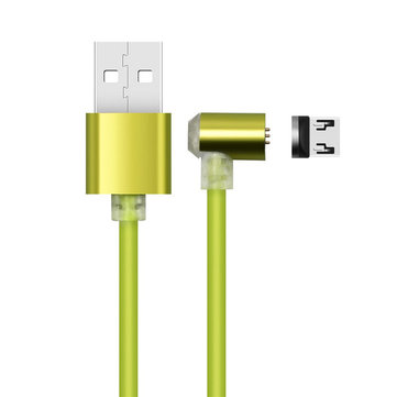 Bakeey 90 Degree L Shape Magnetic Adsorption Micro USB Data Cable for Samsung Xiaomi Huawei