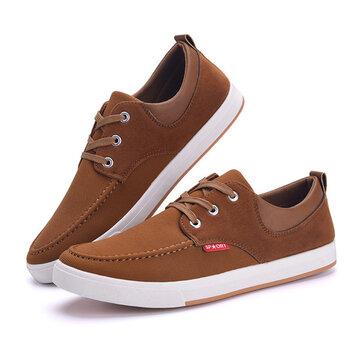 Мужские кроссовки холст дышащий мягкой подошве кружева вверх повседневная обувь