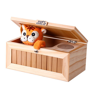 Upgrade Useless Box with Sound Cute Tiger 20 Modes Funny Toy Gift Stress-Reduction Desk Decoration