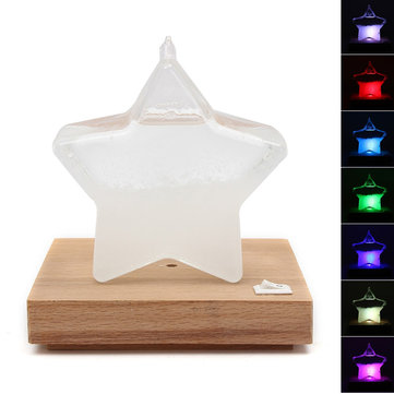 Weather Forecast Crystal Drop Water Star Shape Storm Glass Table Lamp Decoration Gift