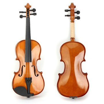 Deviser V-80 Spruce Solid Top 1/2 1/4 Violin with Case Rosin Bow