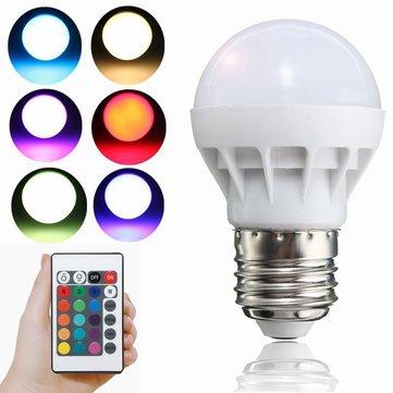 E27 LED RGB lamp 3W SMD 5630 Kleur veranderen 24 toetsen IR Lamp met ...
