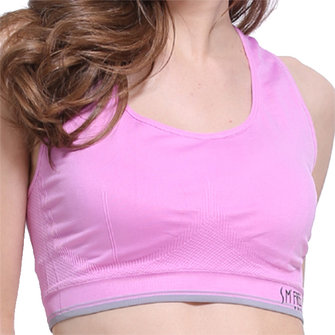 Cosy Shockproof Wireless High Elastic Solid Color Sports Bra Yoga Tracksuit