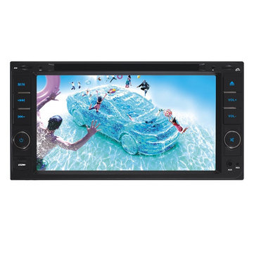 F6042C 6.95 inch Car DVD Player Digital Touch TFT Screen Big USB BT TV for Toyota