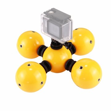 PULUZ PU209 Bobber Diving Floaty Water Surface Shooting Ball Holder Yellow for Action Sport Camera