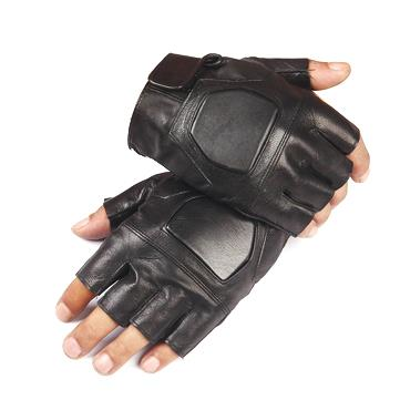 FAITH PRO Hunting Tactical Half Finger PU Leather Cooler Motorcycle Bike Anti Skid Gloves