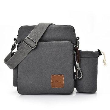 Multifunctionele Canvas Crossboby Bag Solid Casual Women Men Sling Bag