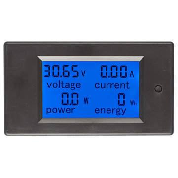 20A DC Digital Multi-function Voltage Current Power Electric Energy Meter Battery Tester Built-in Sh