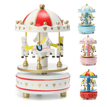Merry-Go-Round Carousel Music Box 4 Color For Gift Decoration Toy