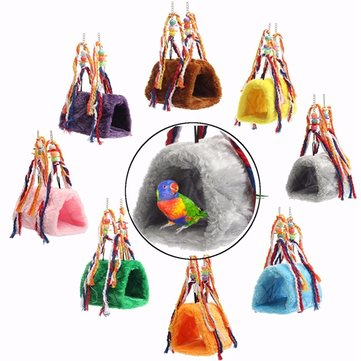 Parrot Cat Happy Hut Pet Cozzy Cage Snuggle Tent Bunk Hammock Bird Toy Craft Cages