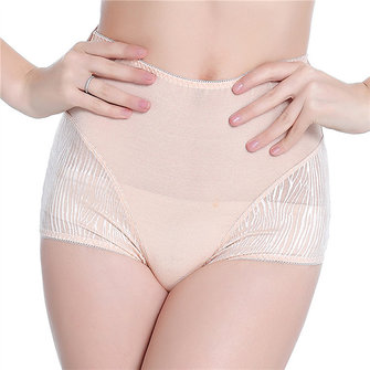 High Waist Breathable Mesh Full Hip Cotton Shapewear