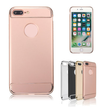 3 In 1 Combo Plating Hard PC Case For iPhone 7 Plus/8 Plus