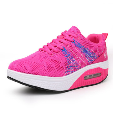 Rocker Sole Shoes Women Mesh Breathable Sport Outdoor Shoes