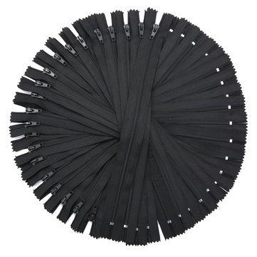 50Pcs 9 Inch Black Nylon Coil Zippers for Sewing Coats Jacket Zipper Black Molded Zippers Tools Kit