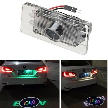 LED Laser Ghost Shadow Logo Projector Light Car License Number Plate Light for BMW 5W