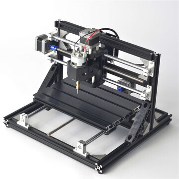 Black 2418 3 Axis CNC Router Spindle Motor Engraver DIY Wood Milling Engraving Machine 240x180mm