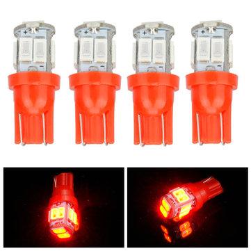 5630 10smd LED сторона мейкера свет двери автомобиля лампа интерьер лампа красный освещение T10 4шт
