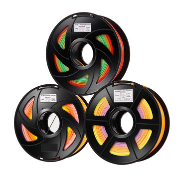 1.75mm PLA Raindow Color Gradient Filament for 3D Printer 1KG/Roll 0.4mm Nozzle