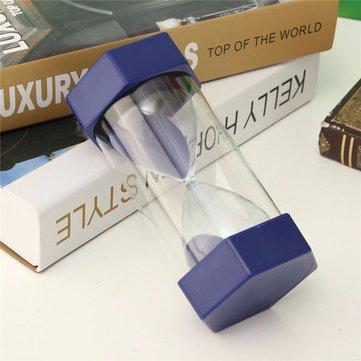 New 10 Minutes Plastic Frame Sand Glass Sand Glass Hourglass Timer Clock Decor