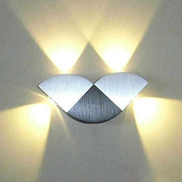 Modern 4W Butterfly LED Up/Down Wall Sconce Light Fixture Lamp Indoor Decoration AC85-265V