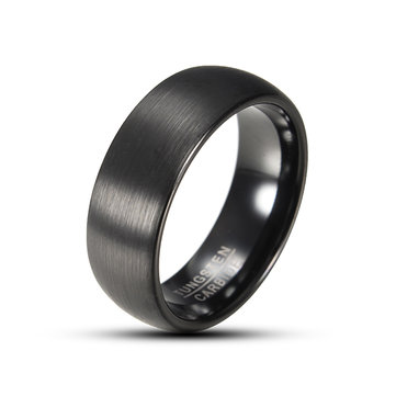 8mm Tungsten Black High Polished Men Jewelry Finger Ring for Men
