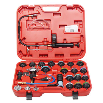 27 Pcs Radiator Pressure Tester Vacuum Purge Cooling System Refill Tool Kit