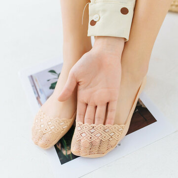 Women Summer Lace Soft Non-Slip Deodorant Breathable Boat Socks