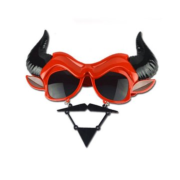 Halloween Funny Hell Baron Black Spider Web Palm Pirate Hat Models Glasses