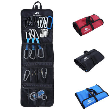 Oxford Cloth Folding Rock Climbing Bag Scratch Proof Tent Buckles Carabiner Hook Gear Equipment Coll