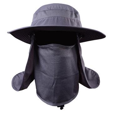 Unisex Homens Mulheres Malha Poliéster Uv Proteção Windproof Fishing Cap Outdooors Cap Neck Face Chapéu